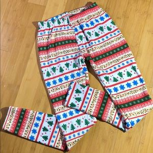 Pants - lined holiday leggings large
